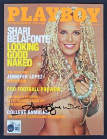 Shari Belfonte Authentic Signed September 2000 Playboy Magazine BAS #BA74099