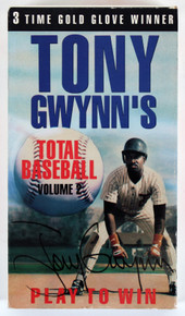 Padres Tony Gwynn Signed Play To Win Total Baseball Volume 2 VHS Tape BAS