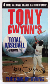 Padres Tony Gwynn Signed The King Of Swing Total Baseball Volume 1 VHS Tape BAS