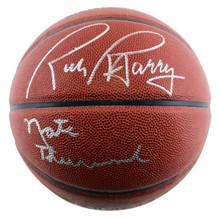 Warriors Nate Thurmond & Rick Barry Signed Zi/O Basketball PSA/DNA Itp #6A86959