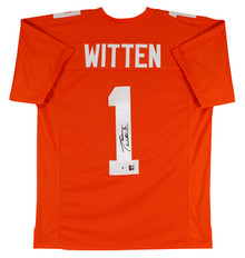 Tennessee Jason Witten Authentic Signed Orange Pro Style Jersey BAS Witnessed