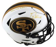 "49ers George Kittle ""SCK"" Signed Lunar Speed Flex Full Size Helmet BAS Witnessed"