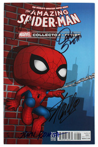 (4) Stan Lee, Romita, Bagley & Slott Signed Amazing Spider-Man 016 Var Comic JSA