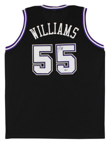 Jason Williams Authentic Signed Black Pro Style Jersey Autographed BAS Witnessed
