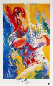 Cardinals Mark McGwire Signed 24x36 LeRoy Neiman Lithograph BAS #BA75015