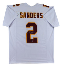 Florida State Deion Sanders Authentic Signed White Pro Style Jersey BAS Witness