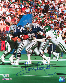 Cowboys Tony Dorsett Authentic Signed 11x14 Vertical Photo BAS Witnessed