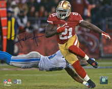 49ers Frank Gore Authentic Signed 11x14 Vs Lions Photo Autographed BAS Witnessed