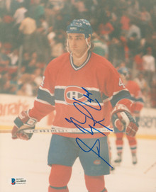 Canadiens Stephane Richer Authentic Signed 8x10 Photo Autographed BAS #AA48025