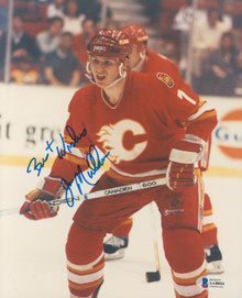 Flames Joe Mullen Authentic Signed 8x10 Photo Autographed BAS #AA48024