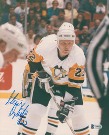 Penguins Steve Dykstra Authentic Signed 8x10 Photo Autographed BAS #AA48141