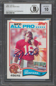 49ers Joe Montana Signed 1982 Topps #488 Card Auto Graded 10! BAS Slabbed