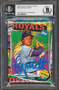 Royals George Brett Signed 2020 Topps Project 2020 #55 Card BAS Slabbed