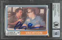 Chevy Chase Vacation Signed Griswold Custom Trading Card Auto 10! BAS Slabbed 2