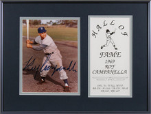 Dodgers Roy Campanella Authentic Signed Framed 7x9 Photo BAS #AA03711