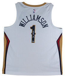 Pelicans Zion Williamson Authentic Signed White Nike Swingman Jersey Fanatics