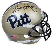 Pittsburgh Tony Dorsett Authentic Signed Gold Schutt Rep Mini Helmet BAS Witness