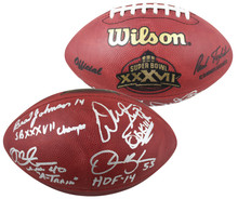 Bucs (4) Sapp, Brooks, Johnson & Alstott Signed SB XXXVII Logo Duke Football BAS