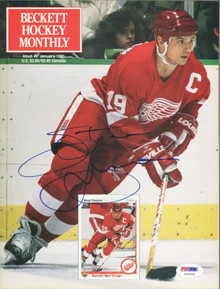 Red Wings Steve Yzerman Authentic Signed Magazine 1991 Beckett PSA/DNA