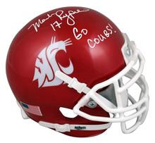 Wash St Mark Rypien Go Cougars Signed Schutt Mini Helmet Autographed BAS Witness