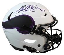 Vikings Adrian Peterson All Day Signed Lunar Speed Flex Full Size Helmet BAS Wit