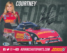 Courtney Force Authentic Signed 8x10 Cardstock Photo Autographed BAS #S72618