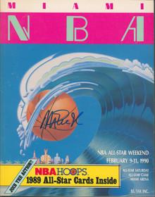 Lakers Magic Johnson Authentic Signed 1990 NBA ASG Program BAS Witness #MJ19910