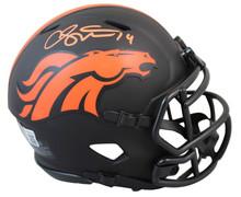 Broncos Courtland Sutton Authentic Signed Eclipse Speed Mini Helmet BAS Witness