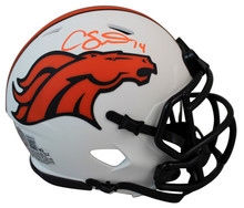 Broncos Courtland Sutton Authentic Signed Lunar Speed Mini Helmet BAS Witnessed