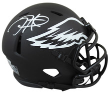 Eagles Jalen Hurts Authentic Signed Eclipse Speed Mini Helmet  BAS Witnessed