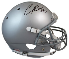 Ohio State Cam Heyward Authentic Signed Schutt Full Size Rep Helmet BAS Witness