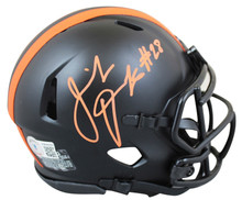 Browns Jeremiah Owusu-Koramoah Signed Eclipse Speed Mini Helmet BAS Witnessed