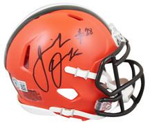 Browns Jeremiah Owusu-Koramoah Authentic Signed Speed Mini Helmet BAS Witnessed