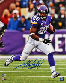 Vikings Adrian Peterson Authentic Signed 16x20 Vertical Photo BAS Witnessed