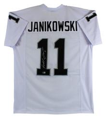 Sebastian Janikowski Authentic Signed White Pro Style Jersey Autographed BAS Wit
