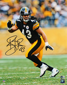 Steelers Troy Polamalu Authentic Signed 16x20 Vertical Photo BAS Witnessed