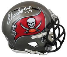 """Buccaneers Warren Sapp """"HOF 13"""" Authentic Signed Speed Mini Helmet BAS Witnessed"""