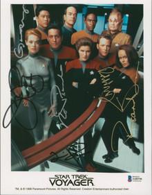 Star Trek Voyager (6) Ryan, Dawson, Russ +3 Authentic Signed 8x10 Photo BAS