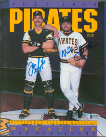 Mike Lavalliere & Don Slaught Signed 1990 Pirates Official Magazine BAS #AA48217