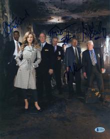 The Closer (5) Reynolds, Bailey, Gussett, Denison & +1 Signed 11x14 Photo BAS 3