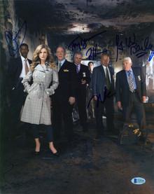 The Closer (5) Reynolds, Bailey, Gussett, Denison & +1 Signed 11x14 Photo BAS 1