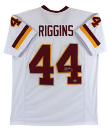 John Riggins Authentic Signed White Pro Style Jersey Autographed BAS Witnessed
