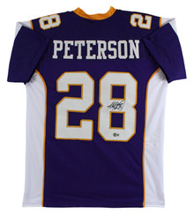 Adrian Peterson Authentic Signed Purple Pro Style Jersey Autographed BAS Witness