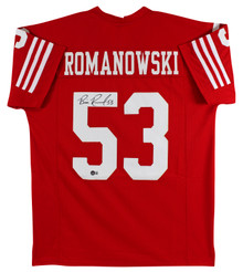 Bill Romanowski Authentic Signed Red Pro Style Jersey Autographed BAS Witnessed