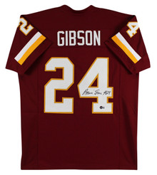 Antonio Gibson Authentic Signed Maroon Pro Style Jersey Autographed BAS Witness