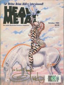 Olivia De Berardinis Signed October 1985 Heavy Metal Magazine BAS #BA74080