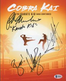 Cobra Kai (3) Macchio, Zabka & Mariduena Authentic Signed 8x10 Photo BAS #Y06023