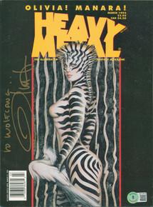 Olivia De Berardinis Authentic Signed May 1995 Heavy Metal Magazine BAS #BA74078