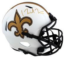 Saints Michael Thomas Signed Lunar Full Size Speed Rep Helmet BAS Witnessed