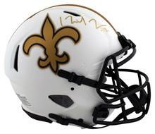 Saints Michael Thomas Signed Lunar Full Size Speed Proline Helmet BAS Witnessed
